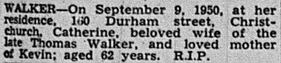 The Press - Death Notice 11 Sept 1950