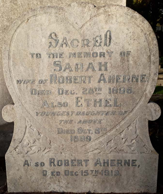 Sarah and Robert Aherne - grave