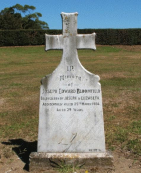 Gravesite for Joseph Bloomfield