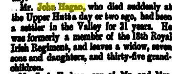 John Hagan death notice