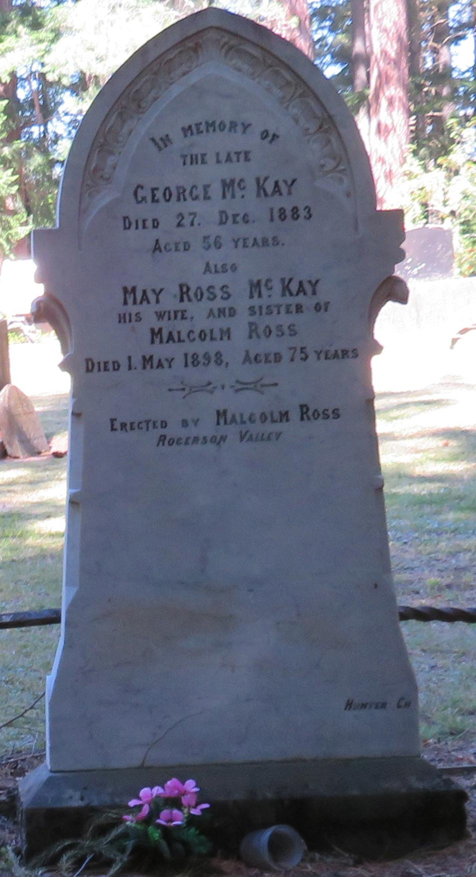 George McKay - May Ross grave